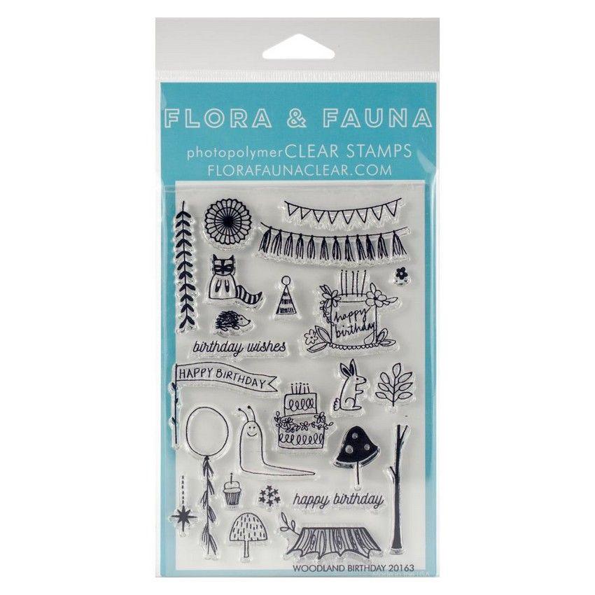 PROMO de -30% sur Tampons clear WOODLAND Flora & Fauna