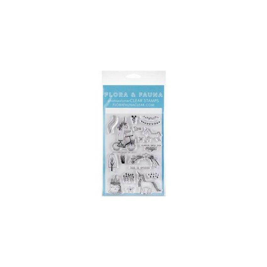 Tampons clear UNICORN MAGIC par Flora & Fauna. Scrapbooking et loisirs créatifs. Livraison rapide et cadeau dans chaque comma...