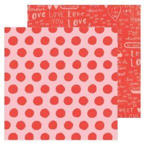 Papier imprimé HEARTFELT La La Love par American Crafts. Scrapbooking et loisirs créatifs. Livraison rapide et cadeau dans ch...