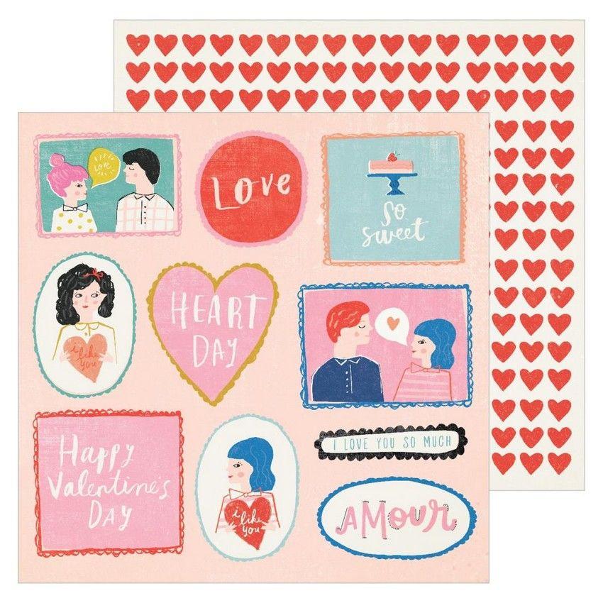 PROMO de -30% sur Papier imprimé MY GUY La La Love American Crafts