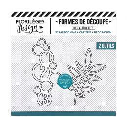 Outil de découpe CERCLES ET FEUILLAGE par Florilèges Design. Scrapbooking et loisirs créatifs. Livraison rapide et cadeau dan...