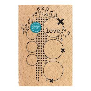 PROMO de -40% sur Tampon bois LOVE Florilèges Design