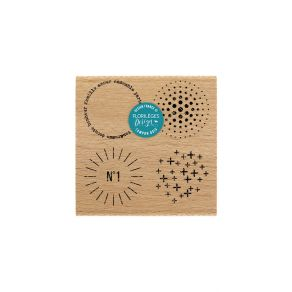 PROMO de -50% sur Tampon bois TEXTURES CERCLES Florilèges Design