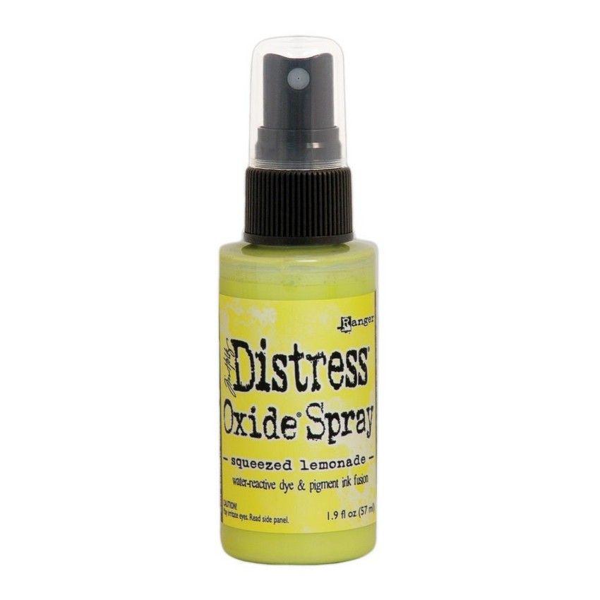 Encre Distress Oxide Spray SQUEEZED LEMONADE par Ranger. Scrapbooking et loisirs créatifs. Livraison rapide et cadeau dans ch...