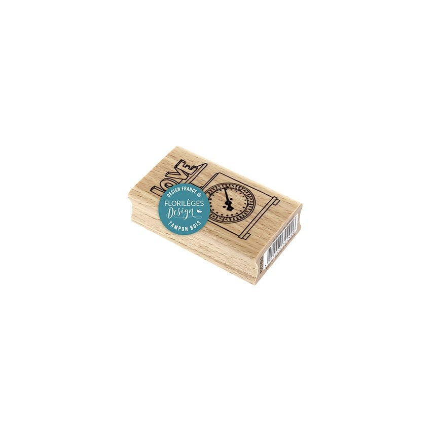 PROMO de -50% sur Tampon bois LE POIDS DE L'AMOUR Florilèges Design