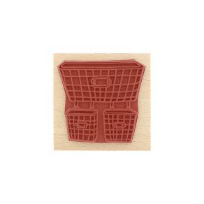 Parfait pour créer : Tampon bois PANIERS GRILLAGÉS par Florilèges Design. Livraison rapide et cadeau dans chaque commande.