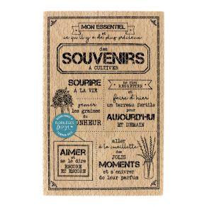 Parfait pour créer : Tampon bois SOUVENIRS À CULTIVER par Florilèges Design. Livraison rapide et cadeau dans chaque commande.
