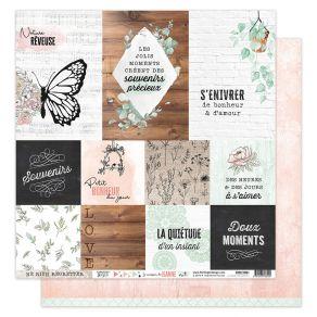 Papier imprimé LA MAISON DE JEANNE 1 par Florilèges Design. Scrapbooking et loisirs créatifs. Livraison rapide et cadeau dans...