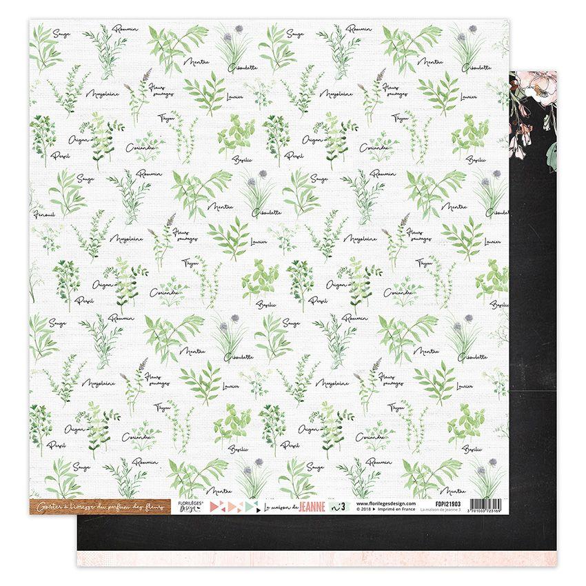 Papier imprimé LA MAISON DE JEANNE 3 par Florilèges Design. Scrapbooking et loisirs créatifs. Livraison rapide et cadeau dans...