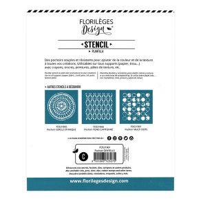 Pochoir DENTELLE par Florilèges Design. Scrapbooking et loisirs créatifs. Livraison rapide et cadeau dans chaque commande.