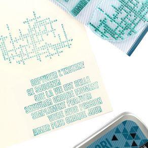 Tampons clear JOLIS MOTS par Florilèges Design. Scrapbooking et loisirs créatifs. Livraison rapide et cadeau dans chaque comm...