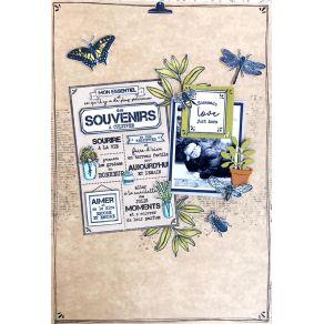 Tampon bois SOUVENIRS À CULTIVER par Florilèges Design. Scrapbooking et loisirs créatifs. Livraison rapide et cadeau dans cha...