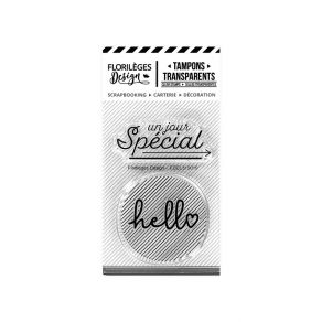 PROMO de -25% sur Tampons clear HELLO SPÉCIAL Florilèges Design
