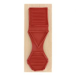 PROMO de -20% sur Tampon bois FORMES À MESSAGES Florilèges Design