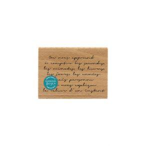 Tampon bois LA VALEUR D'UN INSTANT par Florilèges Design. Scrapbooking et loisirs créatifs. Livraison rapide et cadeau dans c...