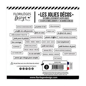 Décos MOTS DOUX EDELWEISS par Florilèges Design. Scrapbooking et loisirs créatifs. Livraison rapide et cadeau dans chaque com...