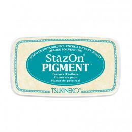 StazOn Pigment PEACOCK FEATHERS