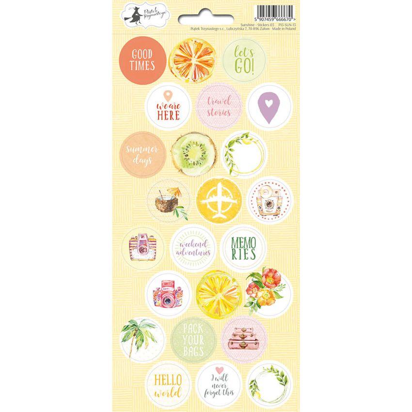 PROMO de -20% sur Stickers SUNSHINE 03 Piatek Trzynastego