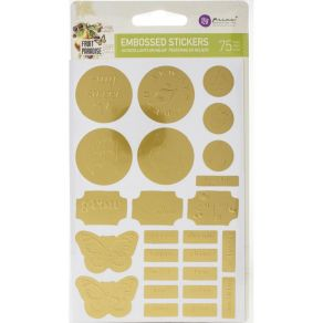 Stickers embossés métallisés doré FRUIT PARADISE