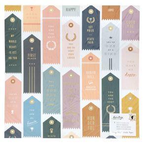 Papier à motifs métallisés Heritage TROPHIES par Crate Paper. Scrapbooking et loisirs créatifs. Livraison rapide et cadeau da...