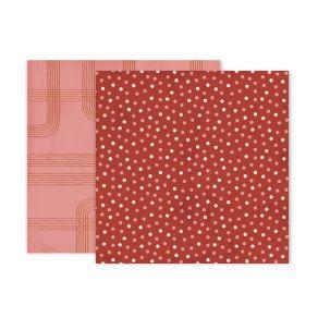 PROMO de -30% sur Papier imprimé Again & Again 3 Pink Paislee