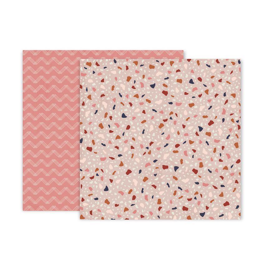 PROMO de -50% sur Papier imprimé Again & Again 6 Pink Paislee