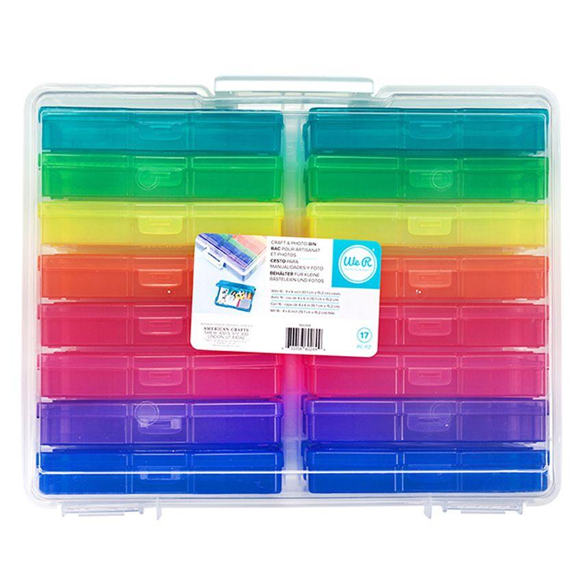 Boîte de rangement 16 compartiments pour photos 10 x 15 cm par We R Memory Keepers. Scrapbooking et loisirs créatifs. Livrais...