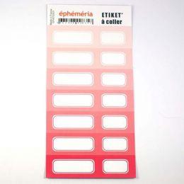 Stickers nuances de ROSE par Ephéméria. Scrapbooking et loisirs créatifs. Livraison rapide et cadeau dans chaque commande.