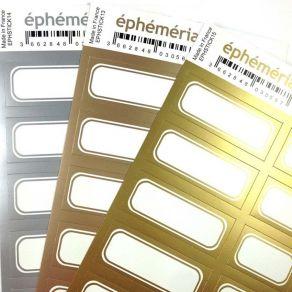 Stickers étiquettes OR CHAUD par Ephéméria. Scrapbooking et loisirs créatifs. Livraison rapide et cadeau dans chaque commande.
