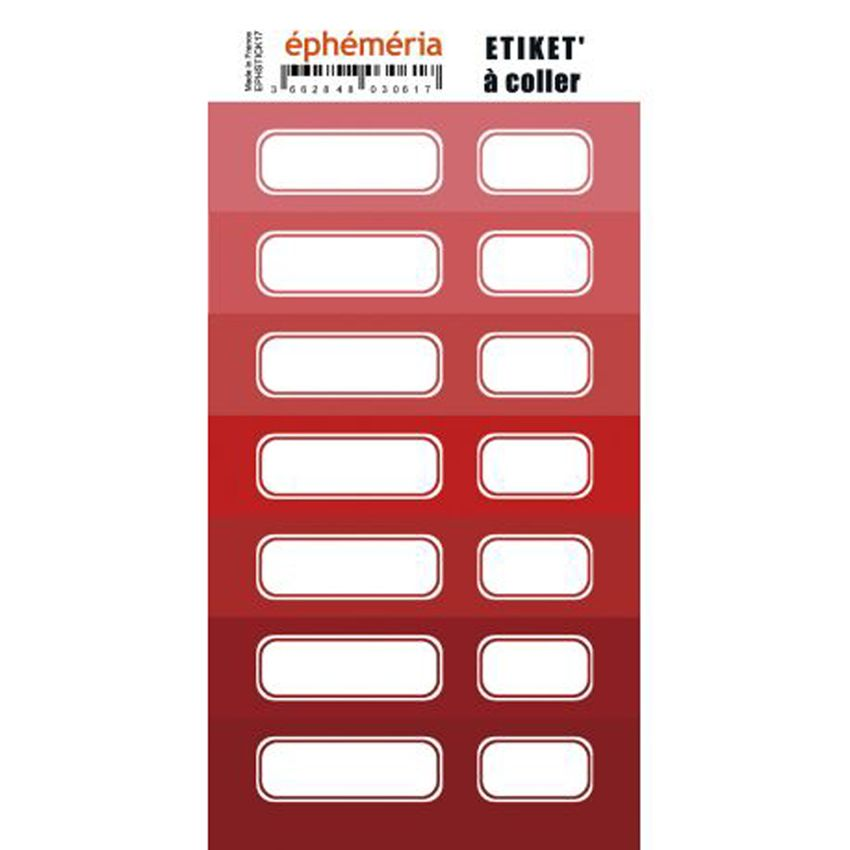 Stickers nuances de ROUGE par Ephéméria. Scrapbooking et loisirs créatifs. Livraison rapide et cadeau dans chaque commande.
