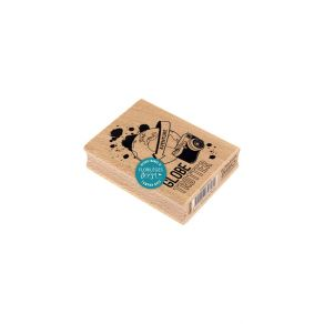 Tampon bois GLOBE TROTTER par Florilèges Design. Scrapbooking et loisirs créatifs. Livraison rapide et cadeau dans chaque com...