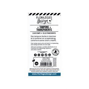 Tampons clear PASTILLES VOYAGE par Florilèges Design. Scrapbooking et loisirs créatifs. Livraison rapide et cadeau dans chaqu...