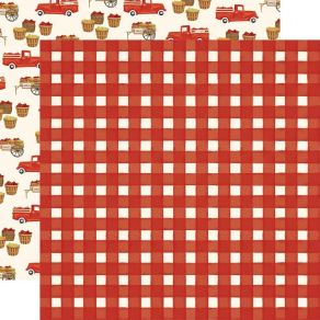 PROMO de -50% sur Papier imprimé Fall Market RED GINGHAM Carta Bella