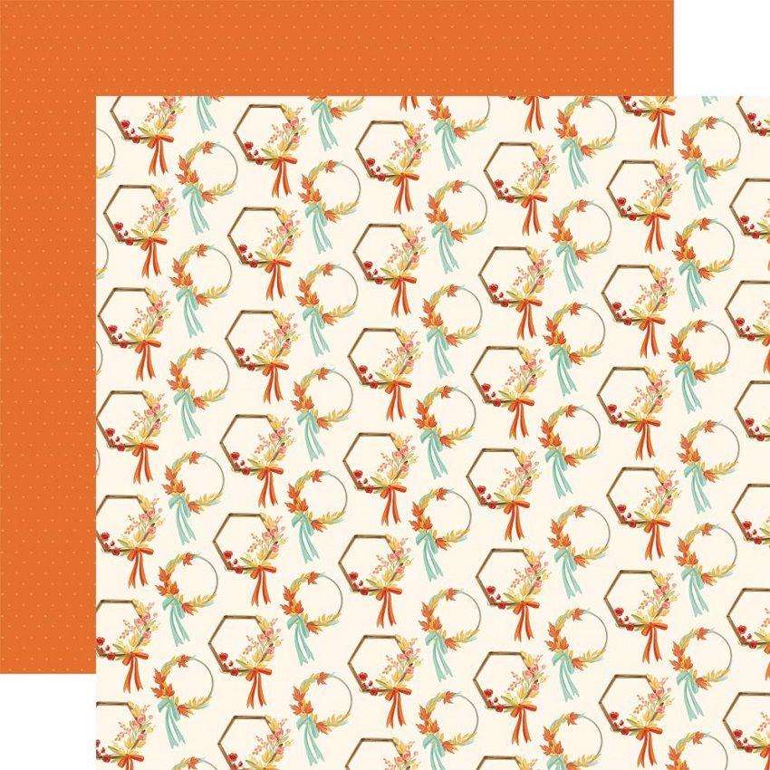 Papier imprimé Fall Market WREATHS par Carta Bella. Scrapbooking et loisirs créatifs. Livraison rapide et cadeau dans chaque ...