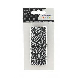 Ficelle TWIN NOIRE ET BLANCHE par Artemio. Scrapbooking et loisirs créatifs. Livraison rapide et cadeau dans chaque commande.