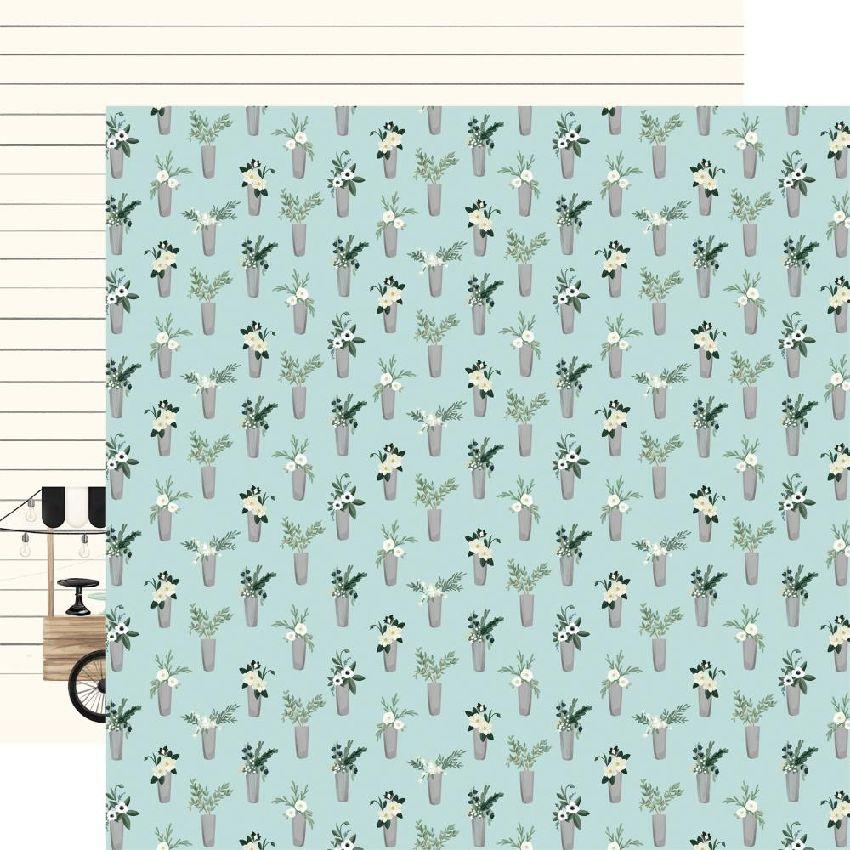 Papier imprimé Home Again VASES par Carta Bella. Scrapbooking et loisirs créatifs. Livraison rapide et cadeau dans chaque com...