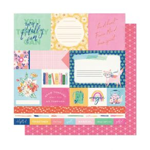 PROMO de -30% sur Papier imprimé She's Magic YOU TOTALLY CAN American Crafts