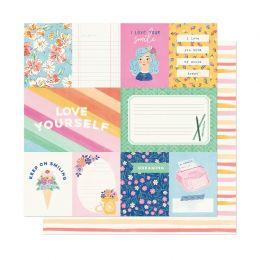 Papier imprimé She's Magic A SIMPLE HELLO par American Crafts. Scrapbooking et loisirs créatifs. Livraison rapide et cadeau d...