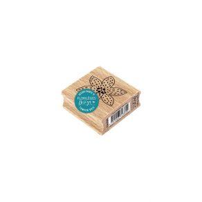 Tampon bois FLEUR BRODÉE BLANCHE par Florilèges Design. Scrapbooking et loisirs créatifs. Livraison rapide et cadeau dans cha...