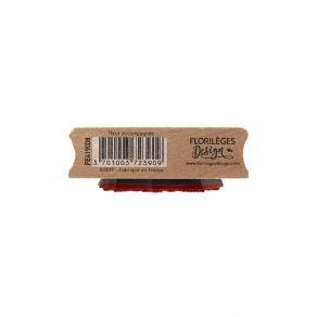 Tampon bois FLEUR ACCOMPAGNÉE par Florilèges Design. Scrapbooking et loisirs créatifs. Livraison rapide et cadeau dans chaque...
