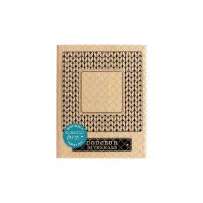 Tampon bois CADRE HIVERNAL par Florilèges Design. Scrapbooking et loisirs créatifs. Livraison rapide et cadeau dans chaque co...