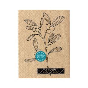 Tampon bois BRANCHE DE GUI par Florilèges Design. Scrapbooking et loisirs créatifs. Livraison rapide et cadeau dans chaque co...