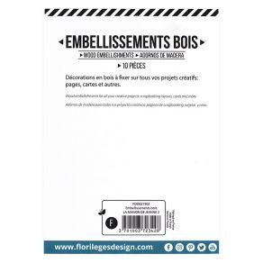 PROMO de -40% sur Embellissements bois LA MAISON DE JEANNE 2 Florilèges Design