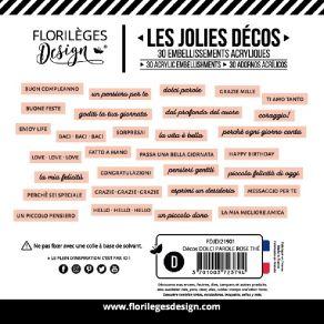 Décos DOLCI PAROLE ROSE THÉ par Florilèges Design. Scrapbooking et loisirs créatifs. Livraison rapide et cadeau dans chaque c...