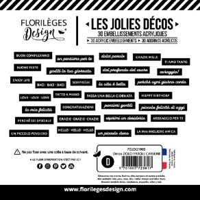 Décos DOLCI PAROLE CARBONE par Florilèges Design. Scrapbooking et loisirs créatifs. Livraison rapide et cadeau dans chaque co...