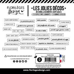Décos DOLCI PAROLE EDELWEISS par Florilèges Design. Scrapbooking et loisirs créatifs. Livraison rapide et cadeau dans chaque ...