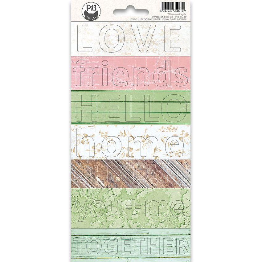 Parfait pour créer : Stickers Phrases TILL WE MEET AGAIN 02 par Piatek Trzynastego. Livraison rapide et cadeau dans chaque co...