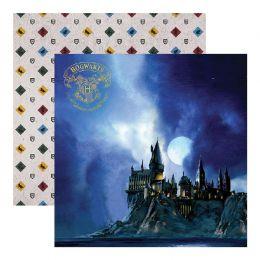 Papier Imprimé Harry Potter HOGWARTS AT NIGHT par Paper House. Scrapbooking et loisirs créatifs. Livraison rapide et cadeau d...