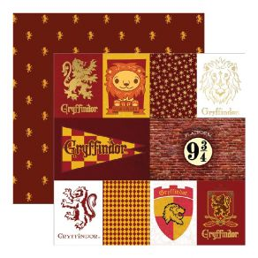 Papier Imprimé Harry Potter GRYFFINDOR HOUSE