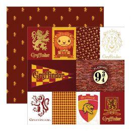 Papier Imprimé Harry Potter GRYFFINDOR HOUSE par Paper House. Scrapbooking et loisirs créatifs. Livraison rapide et cadeau da...